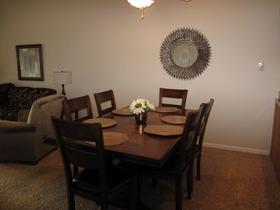 Dinning area that will seat 6 comfortably.