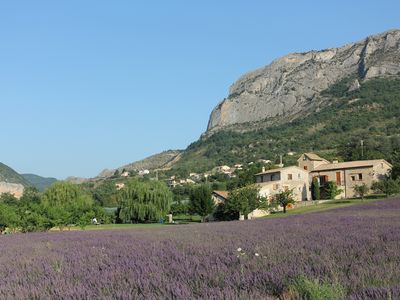 Photo for Large Provencal house, huge garden and lavender (Moulin, upper house)