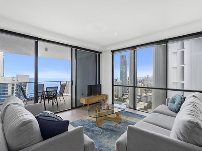 Photo for Chic Surfers Paradise 2 Bedroom Ocean View Apartment at Circle on Cavill