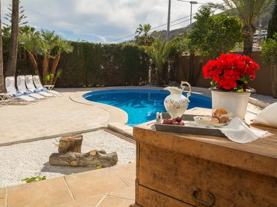 Photo for LARGE VILLA in Albir, between Benidorm and Altea with private pool