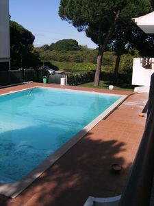 Photo for 1 bedroom apartment with pool. Surrounding green area. 500m from the beach - Free wifi