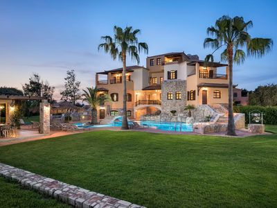 Photo for Natali Luxury Villa, Ideal For Large Groups, Huge Garden, Next To Maleme Beach