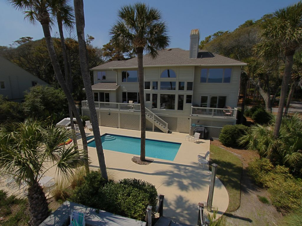 Palmetto Dunes Oceanfront Free Pool Heat F Homeaway
