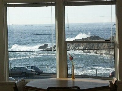 View from kitchen/dining area. This is the favorite area for all of the Whale Watching charter boats