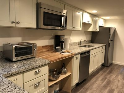 Coffee maker, microwave, toaster oven, hot plate and camping burners