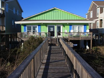 Photo for Oceanfront House, 4 BD & 2 BA, linens and bed-making service included