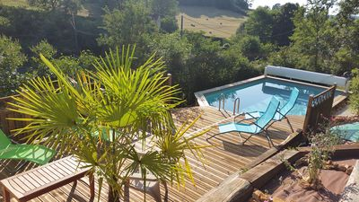 Photo for Marianne house and swimming pool in the heart of the nature of Black Périgord
