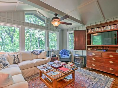 Photo for Cozy Tryon Cottage w/Serene Wooded Views & Patio!