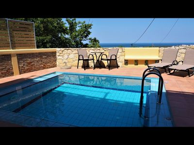 Photo for Villa with private pool 4 km far from center of Chania