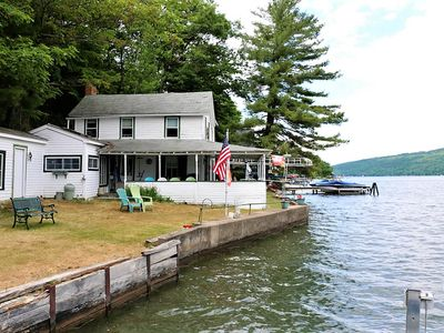 Photo for Quaint, family-friendly home w/ a wraparound porch - right on the water!