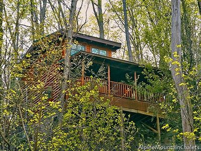 Photo for Experience a true mountain log cabin at Mountain Joy!