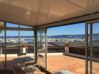 Photo for NEW Cannes Centre renovated beach front, sea view terrace