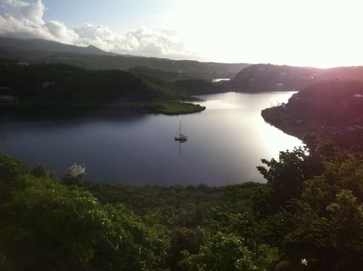 View to the east over Egmont Bay from upstairs