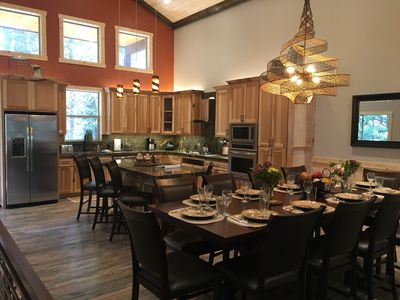 Spacious Dining Room and Kitchen Area