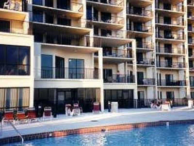 Photo for Lobby level, over-sized balcony overlooking pool, Gulf & beach!