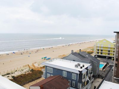 Photo for Cozy 2 Bedroom Oceanfront Condo with Free WiFi and an Outdoor Pool Just Steps From the Beach in Midtown!