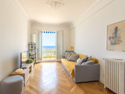Photo for BEAUTIFUL APARTMENT SEA VIEW ON THE PROMENADE DES ANGLAIS IN NICE