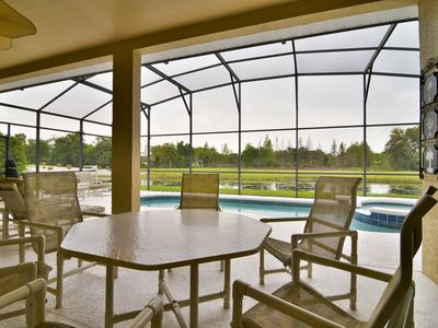 Photo for Sunny,Welcoming Villa w/ Screened Pool, Golf Views, BBQ Grill, 15 Mins to Disney