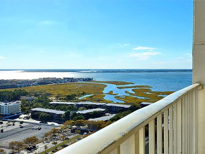 Photo for FREE DAILY ACTIVITIES! 1900 sq. ft., 3 bedroom plus loft living area, 3 bath bi-level penthouse with spiral staircase. Enjoy beautiful southern views of ocean, bay and city skyline.
