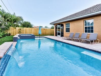Photo for Beach Upscale Home in Naples; Private Pool w/ Hot Tub;  Walking Distance to Vanderbilt Beach!