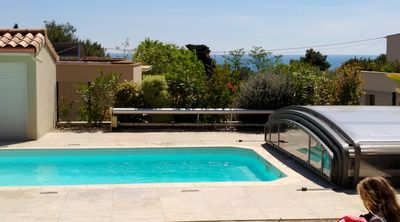 Photo for 100 m2 with swimming pool and garden, at the foot of Mont St Clair in Sète South