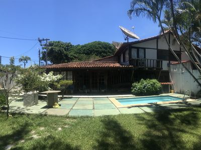 Photo for Buzios _ Geribá (right corner) _ 3 bedrooms, pool, beach 500m _ Bosque Geribá