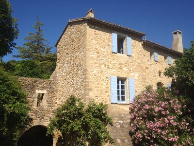 Photo for House with pool and views, in village near Uzès (Gard Provence)