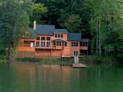 Photo for Beautiful 3BR Lakefront Home on Lake Santeetlah (Sleeps 8)