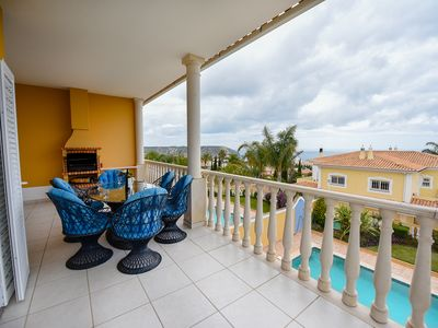 Photo for A 3 bed villa with amazing views of Luz Bay in a closed condiminium
