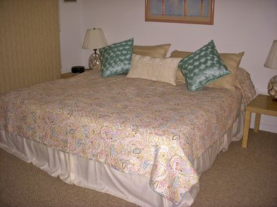 Master Bedroom with a comfy King-Size Bed