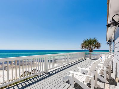 Photo for New Listing! The Beach House - Gulf-Front Haven w/ Private Boardwalk & Garage