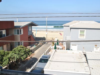 Photo for OCEAN VIEWS! STEPS TO BEACH & BAY - 3 STORY BEACH HOUSE AND PRIVATE PARKING