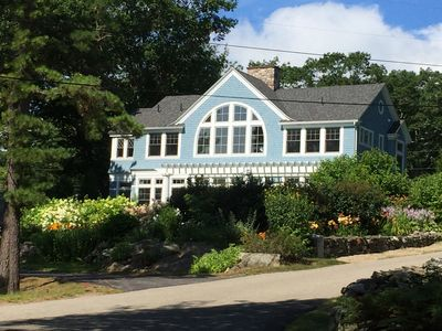 Photo for Elegant Kennebunkport seaside . Beautifully  landscaped, steps to secluded beach