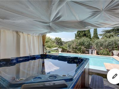 Photo for CANNES Riviera / Beautiful Provencal Villa with swimming pool and Jaccuzi at 5mn beaches