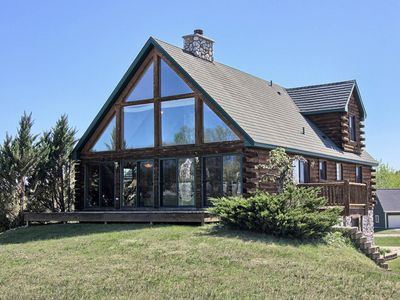 Photo for 6 Bedroom Log Cabin Walking Distance To The Lifts And Lodges At Boyne Mountain
