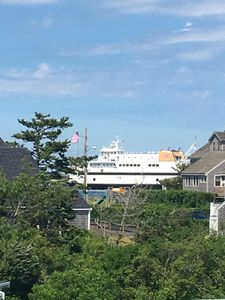 See ferries pass by Brant Point