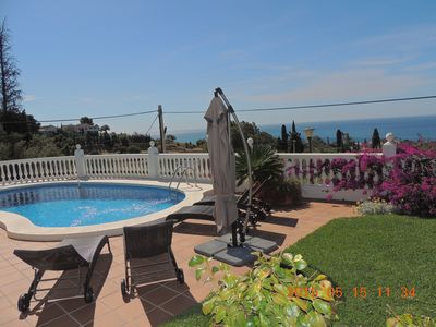 Photo for VILLA 6 PEOPLE BENALMADENA ANDALUSIA SEAVIEW, PRIVATE POOL, 5mn FROM THE BEACH