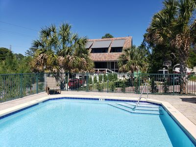 Photo for 6 min walk to the beach, 2 private beach parking spots, pool across the street