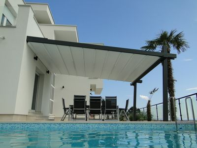 Photo for Villa Victoria, Luxury villa with heated pool, beautiful terrace and sea view