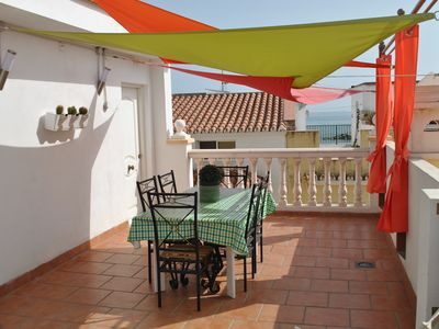 Photo for Apartment with terrace 30 meters from the beach of Pedregalejo