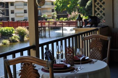Lunch or Dinner on your Private terrace or enjoy the water fonta