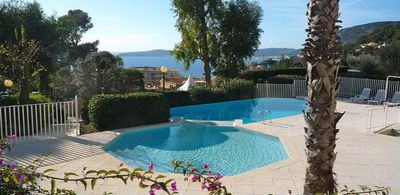 Photo for Domaine du Chateau St. Georges, apartment with sea view on the Cote d`azur