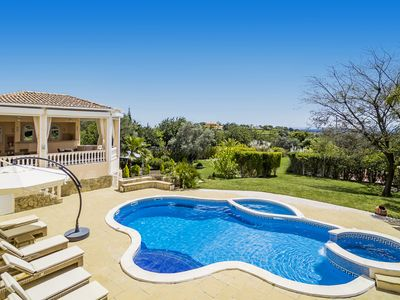 Photo for Luxury Holiday Villa 7 bedrooms Private Heated Pool, Home Cinema, Sea Views