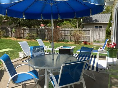 The outdoor space that is roomy and comfortable,