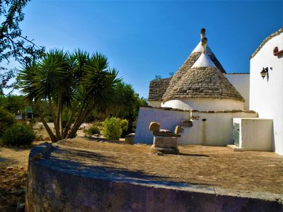 Photo for Typical house in olive trees with pool near the sea