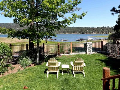 Photo for Lakeside Living: Lakefront with Boat Dock! Luxury! Lake and Mountain Views! Gas BBQ!
