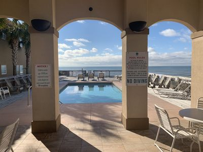 Photo for LaValencia 320- Ocean Front Pool! Gated comunity ! 4 bedroom home sleeps 8!