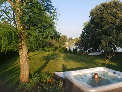 Photo for Beach house IVE with private beach with jacuzzi, pool, playground, kayak, ...