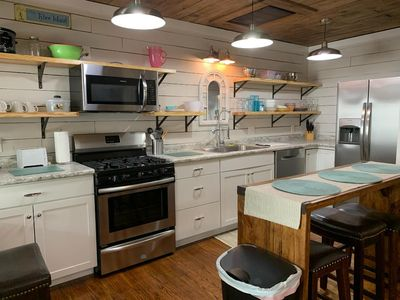 Photo for Shabby chic/Modern apartment just 350 ft to 18th St Beach access and back River.