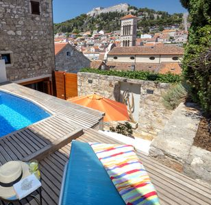 Photo for Luxurious 3 story villa with heated pool in Hvar City centre [Villa Hedonist]